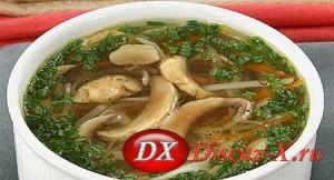 Суп из белых грибов и макарон