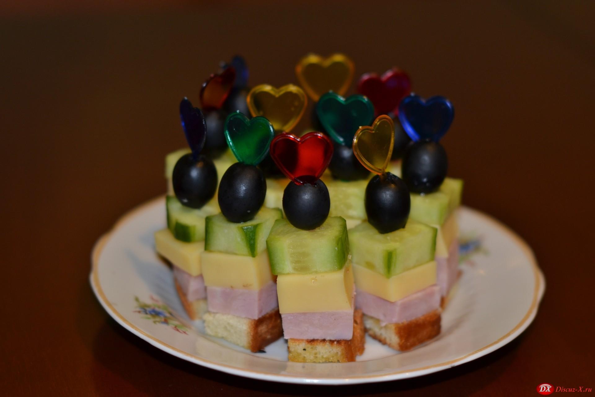Бутерброд на праздничный стол в домашних условиях
