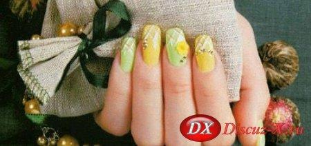 Летний рисунок на ногтях — Разноцветный позитив